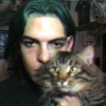 My kitty, Anton, and me looking dark and brooding in Seattle
