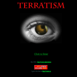 The Terratism splash page