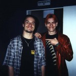 Me looking goofy with Mike Patton. That jacket I'm wearing features heavily in the follow-up story