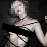 an anonymized, and censored, version of the photo she sent me